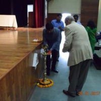 Lighting the lamp by Mr. Ankush Chavan-Addl. Commissioner NMMC