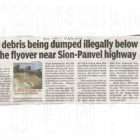 Debris being dumped illegally below Turbhe flyover near Sion-Panvel highway – Times of India, Navi Mumbai dated 22nd April 2018