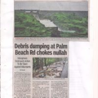 Debris dumping on mangroves near Sarsole jetty. TOI Report of 10.09.2017