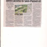 T. O. I. Report of 25.09.2017 on Kamothe access Sion Panvel to Highway
