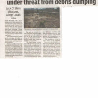 TOI, NM-Mangrove cover near Seawoods stn under threat from debris dumping-26.03.18